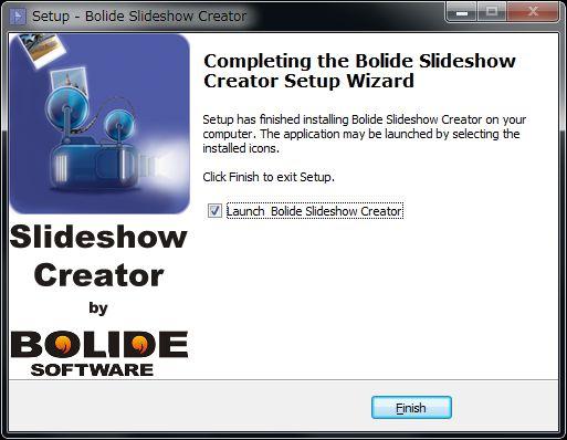 Bolide Slideshow Creatorインストール完了
