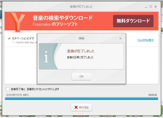 Freemake Video Converter完了