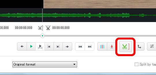 Free Video Editor終点ボタン
