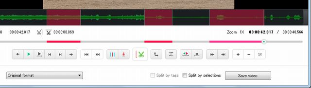 Free Video Editor複数カット