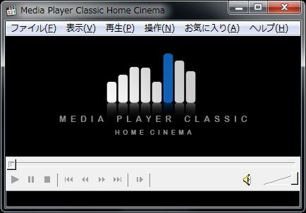 MPC-HC起動画面