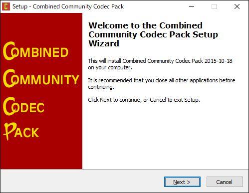 CCCPインストールセットアップウィザード