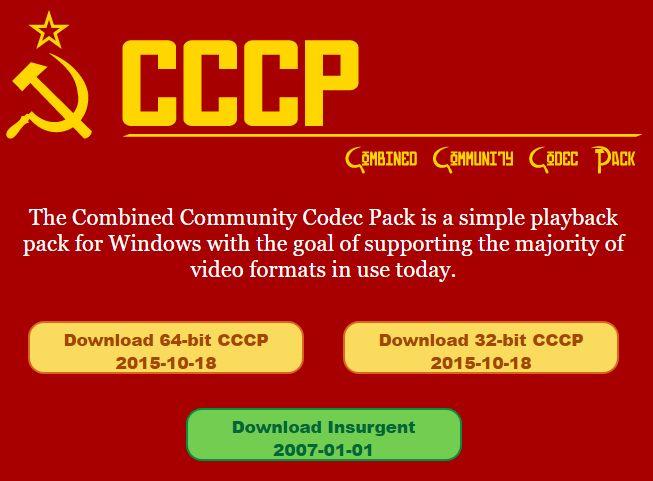 CCCPダウンロードサイト
